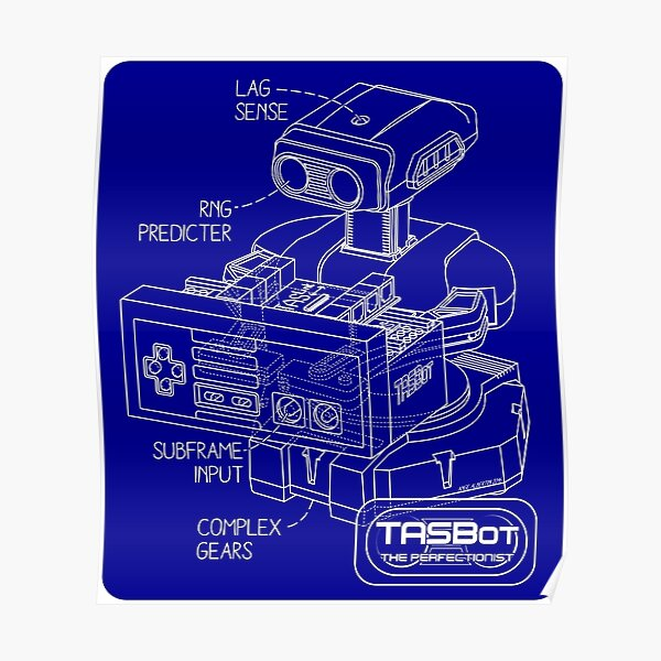 TASBot - the perfectionist Poster