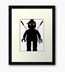 Ninja Minifig / TMNT Foot Soldier Framed Print