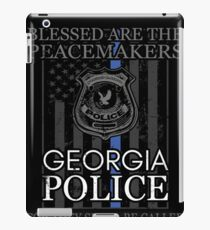 Georgia Police Support Saint Michael Police Officer Prayer iPad Case/Skin
