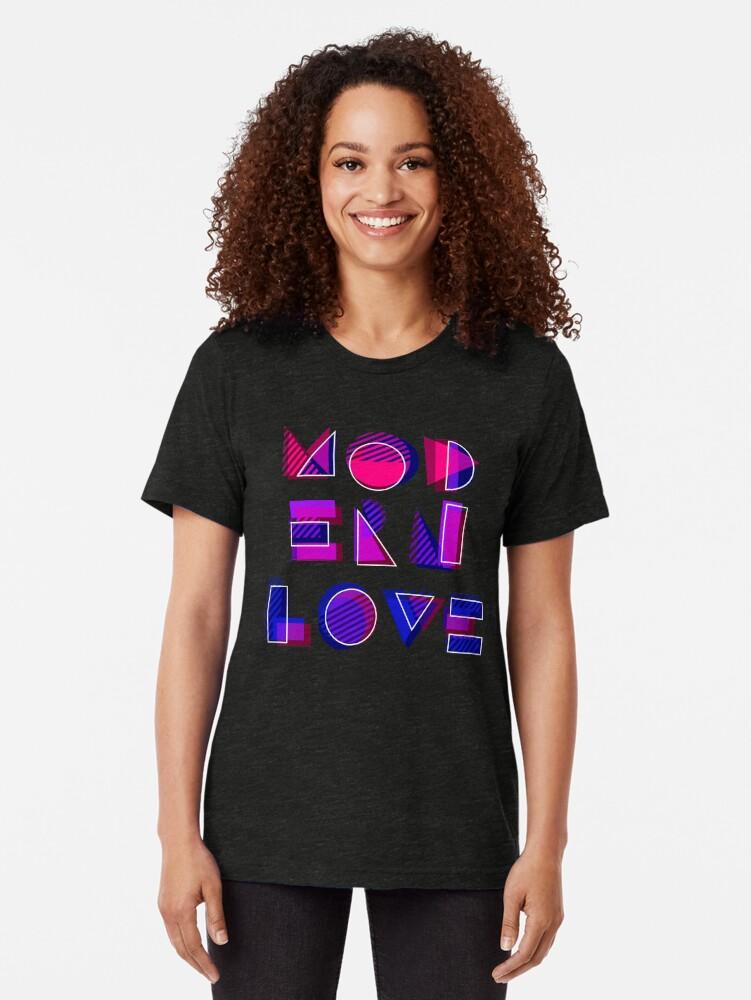 Alternate view of Modern Love (bonus) Tri-blend T-Shirt