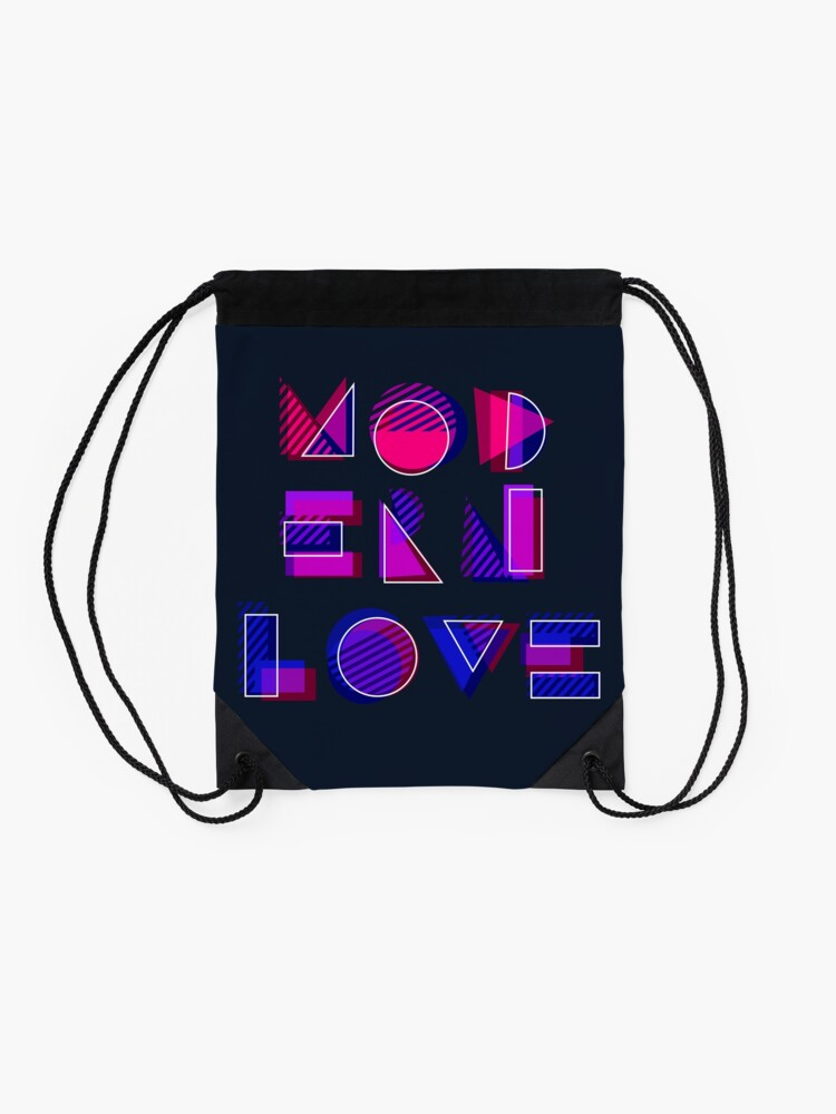 Alternate view of Modern Love (bonus) Drawstring Bag