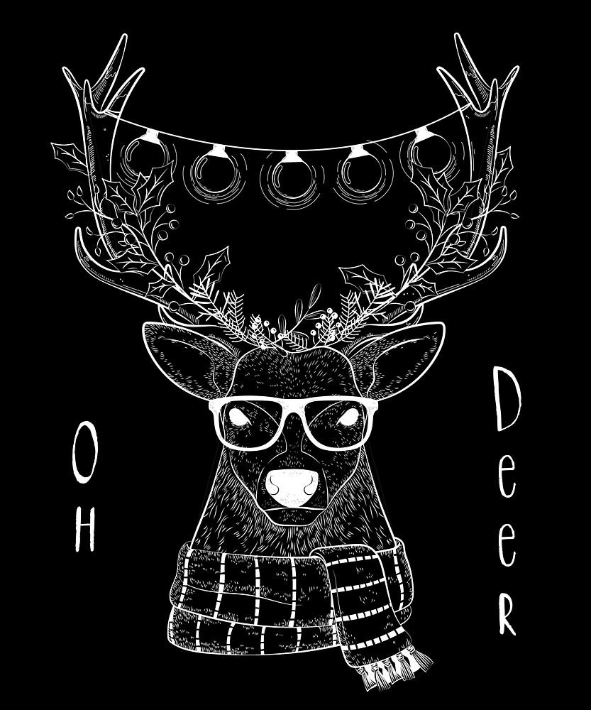 Christmas Reindeer oh deer funny by diabloods01