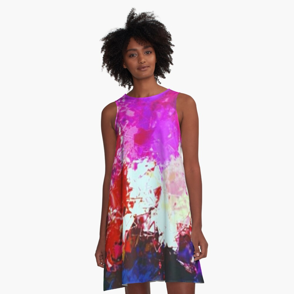 Sunset Over Forest  A-Line Dress Front