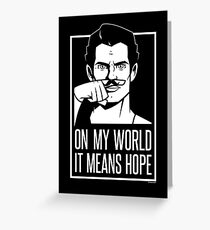 Mustache Of Hope Greeting Card