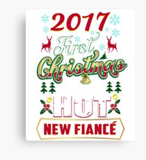First Christmas With Hot New Fiance Engaged Couple Canvas Print