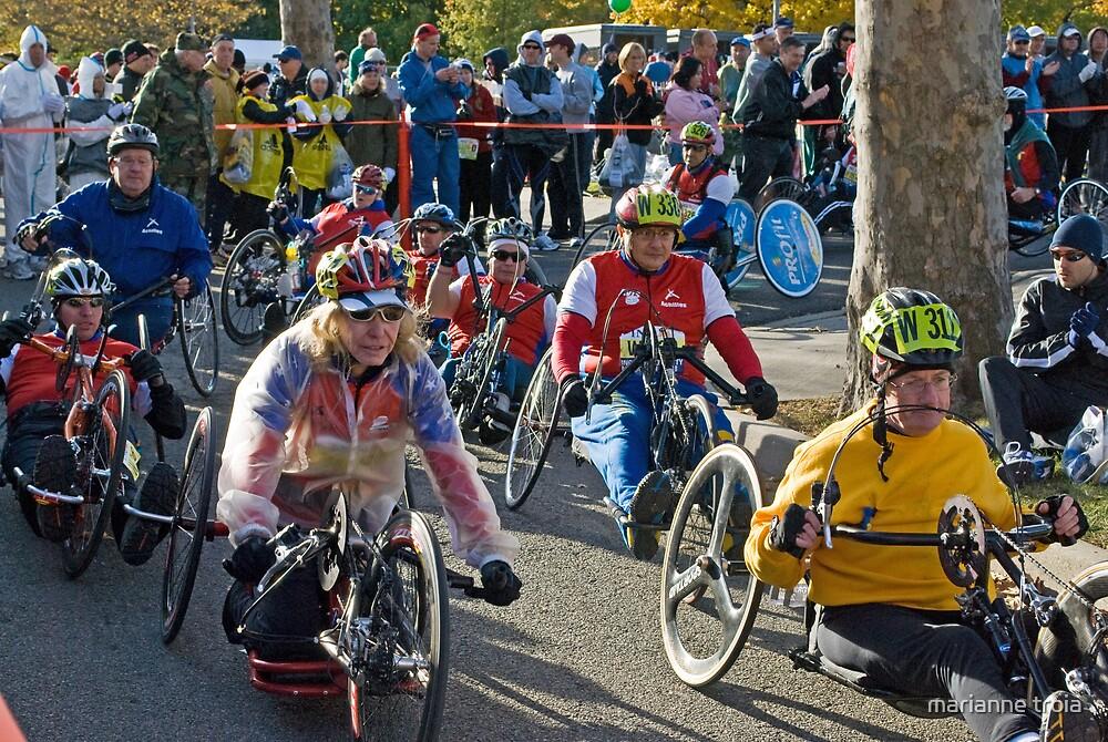wheelchair division race start by marianne troia