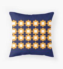 Design elements gold on blue Floor Pillow