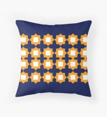 Design elements gold on blue Floor Pillow