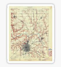 USGS TOPO Map Illinois IL Springfield 309971 1907 62500 Sticker
