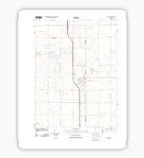 USGS TOPO Map Illinois IL Wenona 20120816 TM Sticker