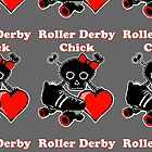 Roller Derby Chick (Red) by blakcirclegirl