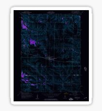 USGS TOPO Map Illinois IL Woodhull 309112 1953 24000 Inverted Sticker