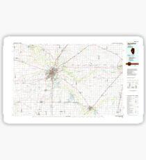 USGS TOPO Map Illinois IL Springfield 310138 1985 100000 Sticker