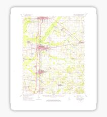 USGS TOPO Map Illinois IL West Frankfort 310065 1963 62500 Sticker