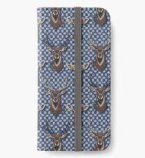 Autumn Deer Flowers iPhone Flip-Case/Hülle/Skin