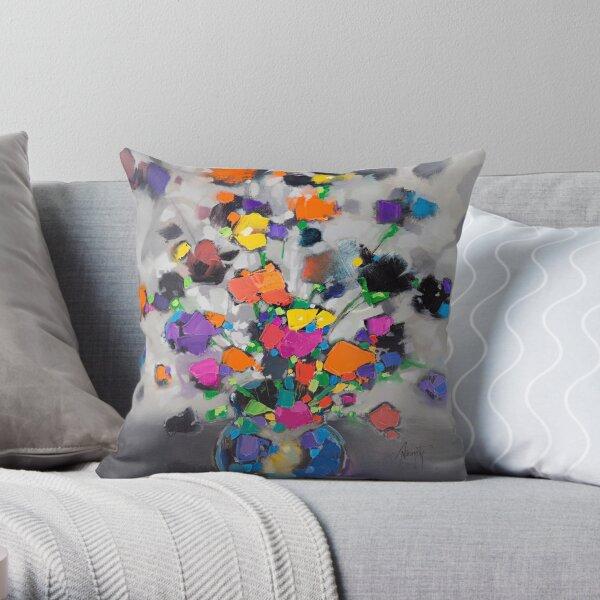 Floral Spectrum 1 Throw Pillow