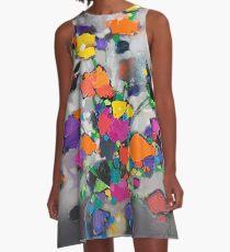 Floral Spectrum 1 A-Line Dress