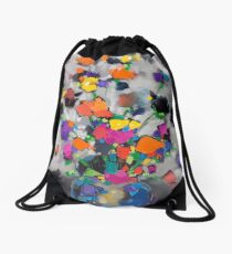Floral Spectrum 1 Drawstring Bag