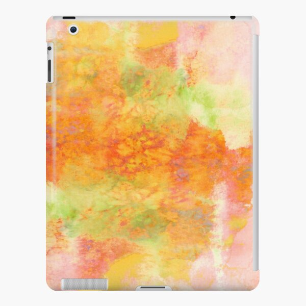 PASTEL IMAGININGS 3 Girly Chic Rainbow Abstract Watercolor Painting Colorful Textural Spring Peach Pink Yellow Green Fine Art iPad Snap Case