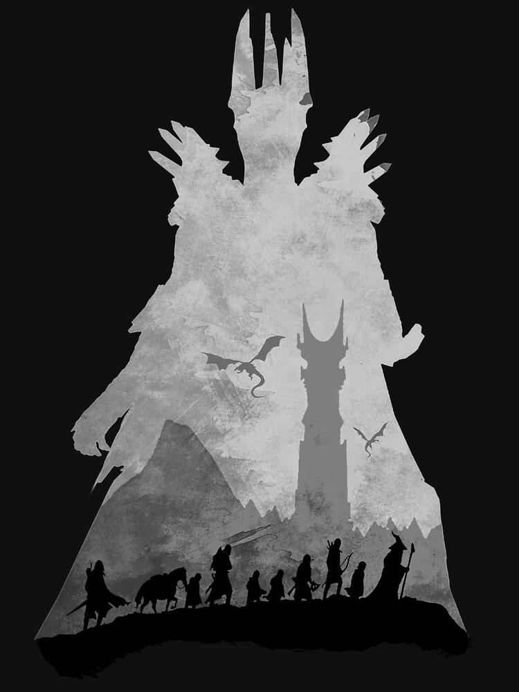 Sauron & The Fellowship by -Shiron-
