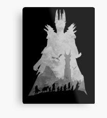 Sauron & The Fellowship Metal Print
