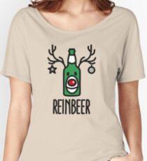 Reinbeer = Reindeer + Beer Women's Relaxed Fit T-Shirt