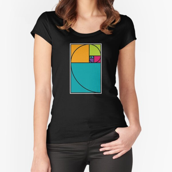 Cool Math T Shirts Gifts-Golden Ratio for Women Men Math Lovers Fitted Scoop T-Shirt