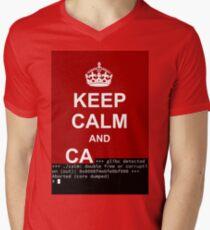 Keep calm and... SegFault! Men's V-Neck T-Shirt