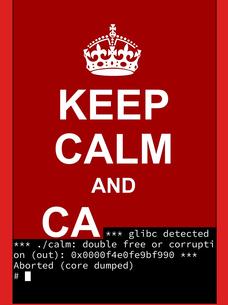 Keep calm and... SegFault! by Ange4771