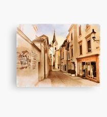 Kirchengasse in Ybbs mit Loeb Geschaeft Canvas Print