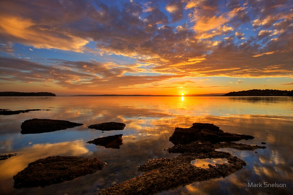 Wangi Point Sunset by Mark Snelson