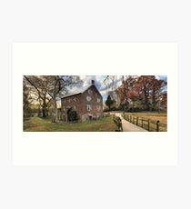 Kerr Grist Mill Panorama Art Print