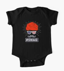 SWAG Funny T-Shirt American Flag Indian Turban Moustache  Kids Clothes