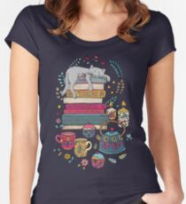 How to Hygge Like a Cat Women's Fitted Scoop T-Shirt