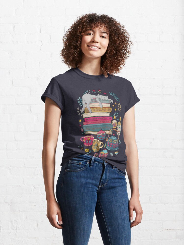 Alternate view of How to Hygge Like a Cat Classic T-Shirt