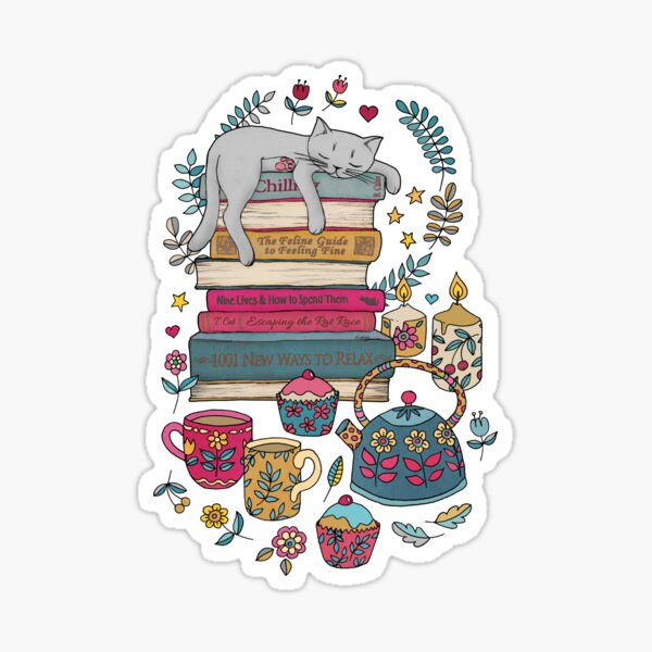 How to Hygge Like a Cat Sticker