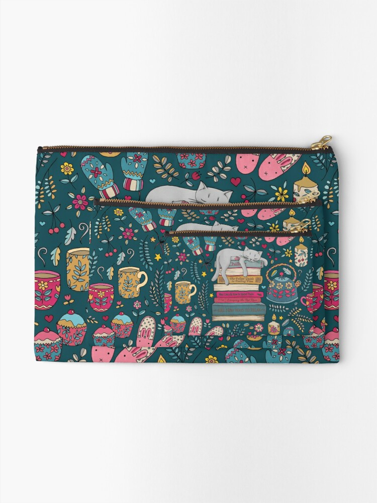 Alternate view of How to Hygge Like a Cat Zipper Pouch
