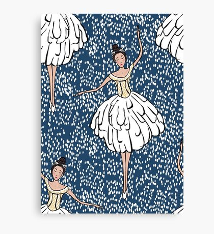 Swan Lake Snowstorm Canvas Print