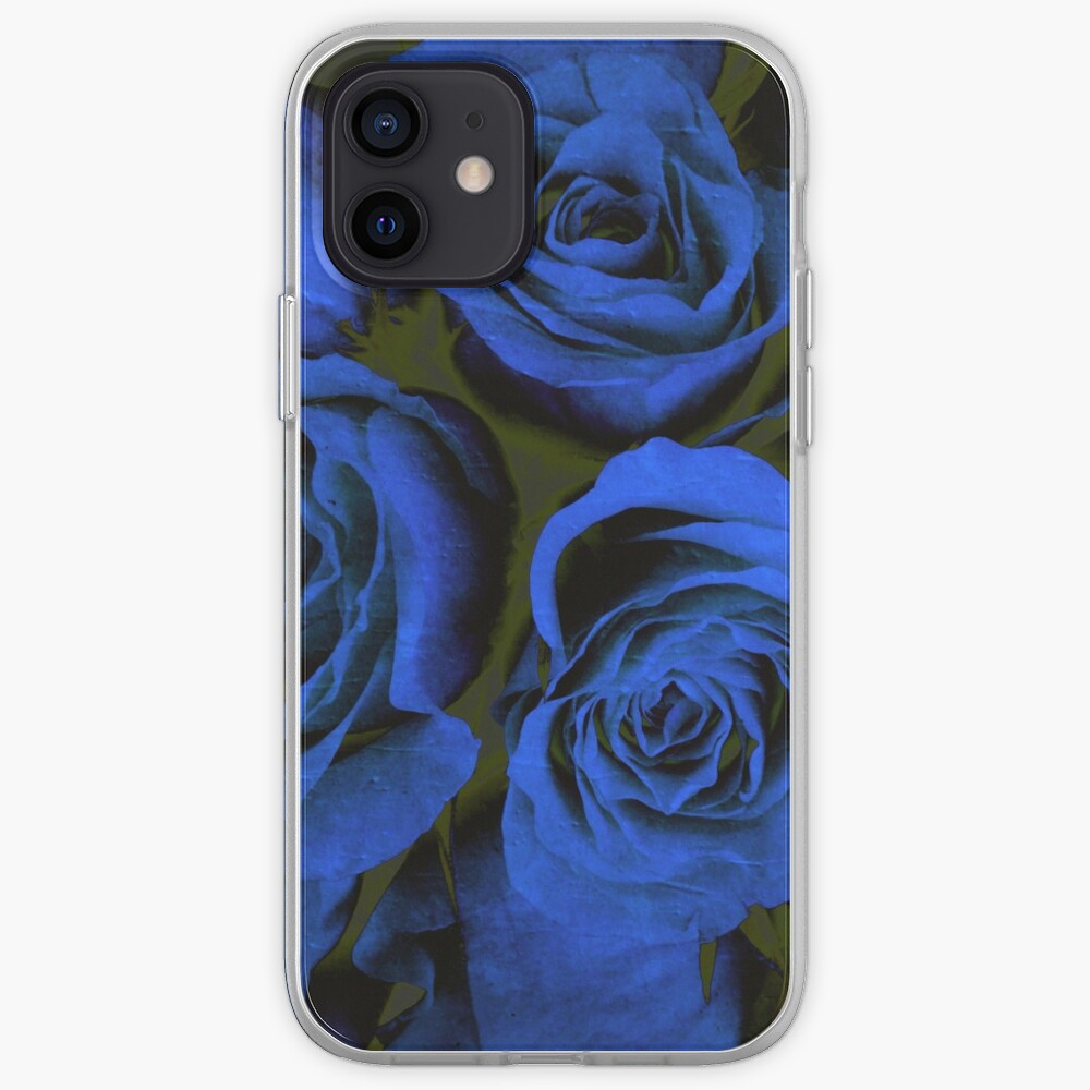 Mothers Day Gift - In Blue - Gothic Blue and Black Roses Gift iPhone Case & Cover