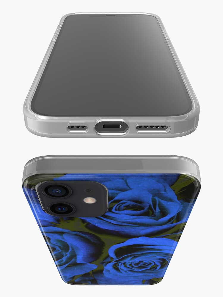 Alternate view of Mothers Day Gift - In Blue - Gothic Blue and Black Roses Gift iPhone Case & Cover