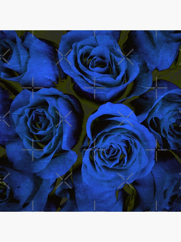 Mothers Day Gift - In Blue - Gothic Blue and Block Roses Gift by OneDayArt