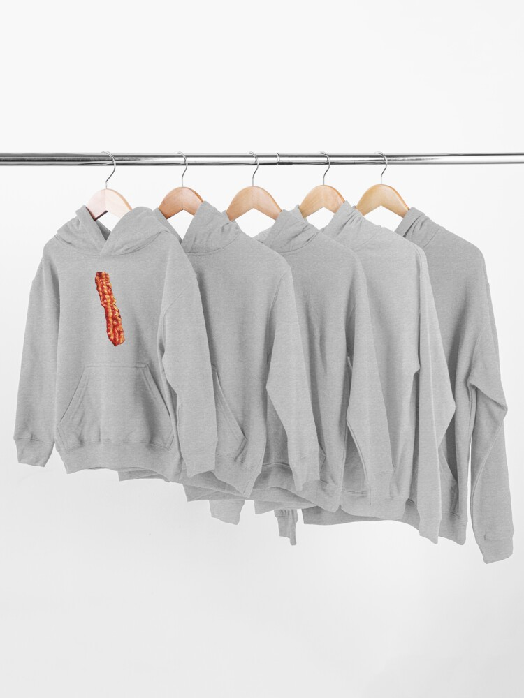 Alternate view of Bacon Pattern Kids Pullover Hoodie