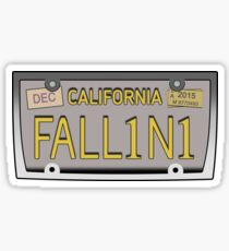 Lucifer's license plate - FALL1N1 Sticker