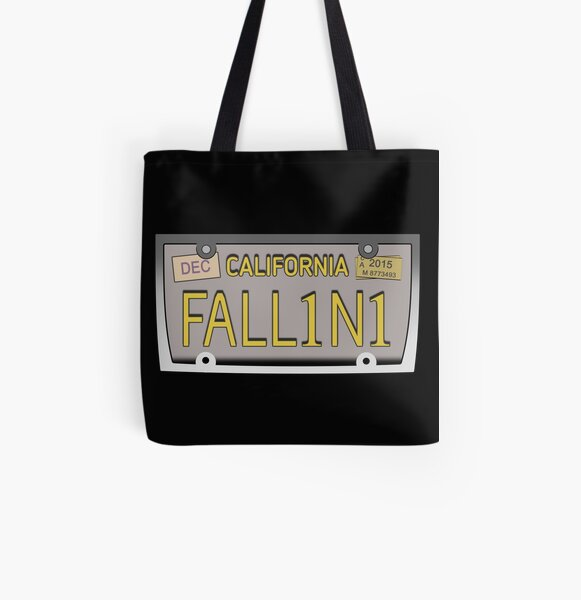 Lucifer's license plate - FALL1N1 All Over Print Tote Bag