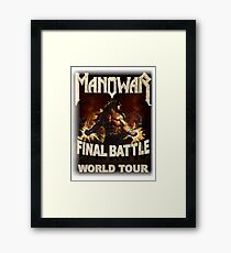 Manowar American heavy metal band Framed Print