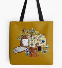 Open Mailbox Flowering Vines Art Tote Bag