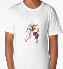 Unicorns Are Born In December Funny Dabbing Unicorn Graphic Tshirt   Long T-Shirt