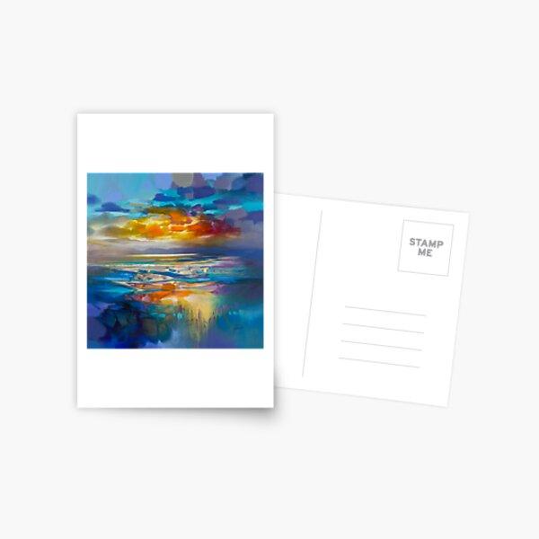 Liquid Cyan  Postcard
