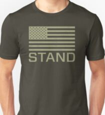 Stand - I Don't Kneel - Distressed US USA Flag Unisex T-Shirt
