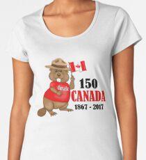 Proudly Canadian Beaver 150 Anniversary Women's Premium T-Shirt
